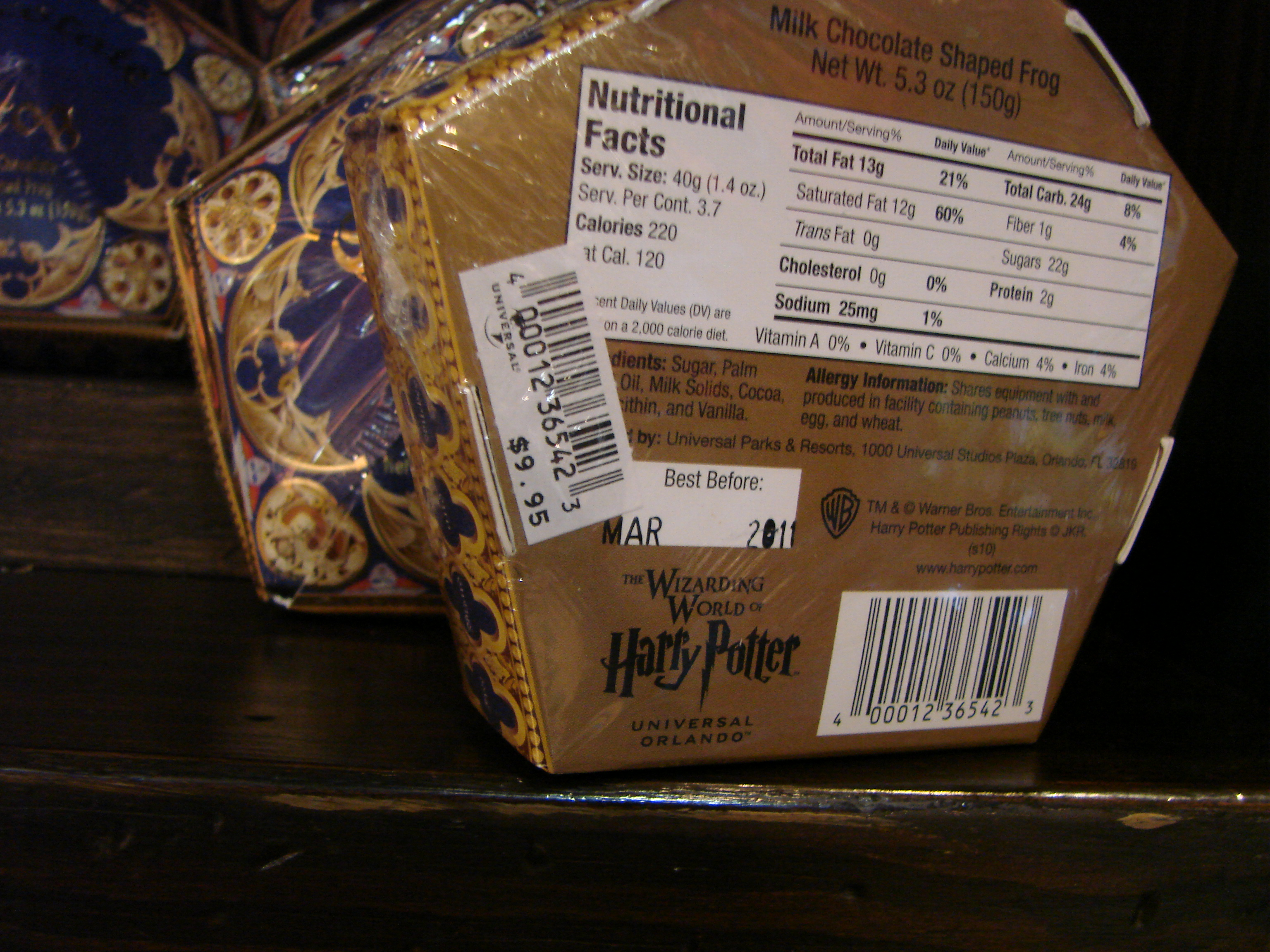 Harry Potter Park Chocolate Frog Review