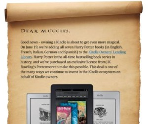Harry Potter Books in Kindle Lending Library