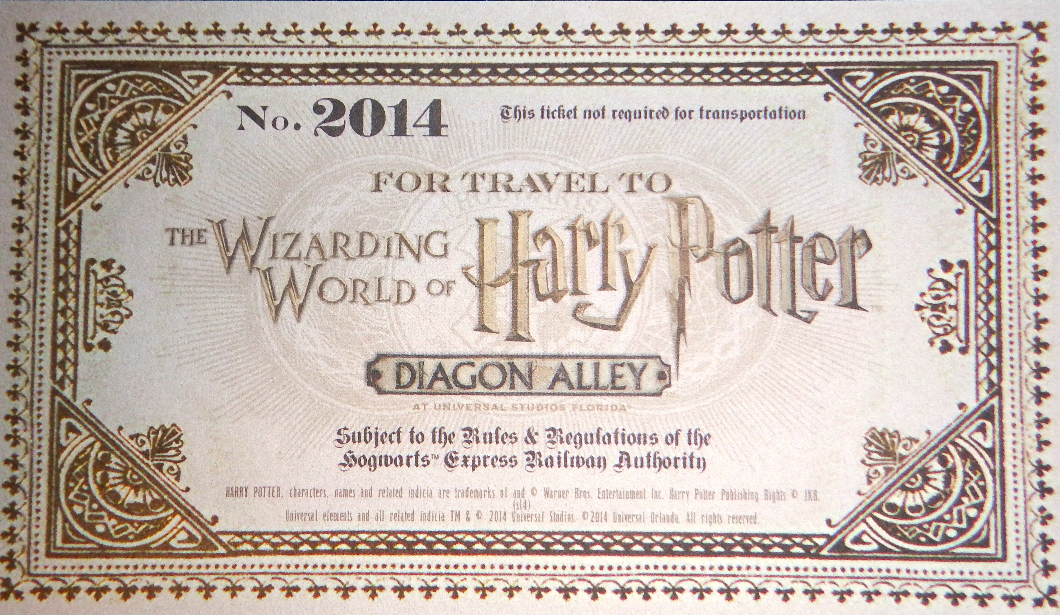 Diagon Alley Invite Unboxing for Wizarding World of Harry ...