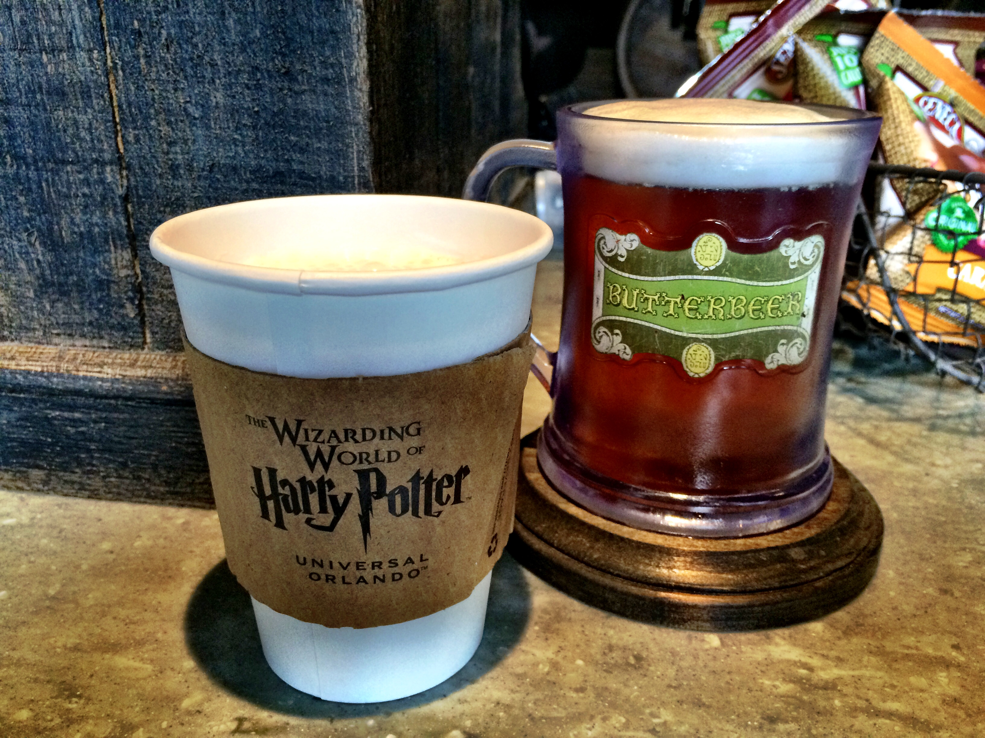 Hot Butterbeer from Universal Orlando