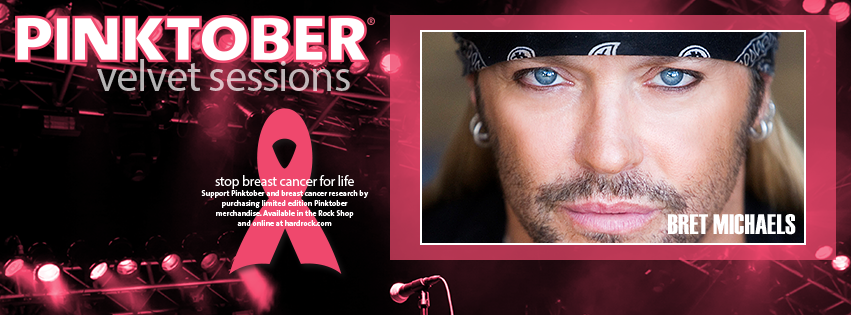 Hard Rock Hotel kicks off PINKTOBER with Bret Michaels Velvet Sessions