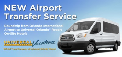 New Roundtrip Universal SuperStar Shuttle for Universal Orlando Resort