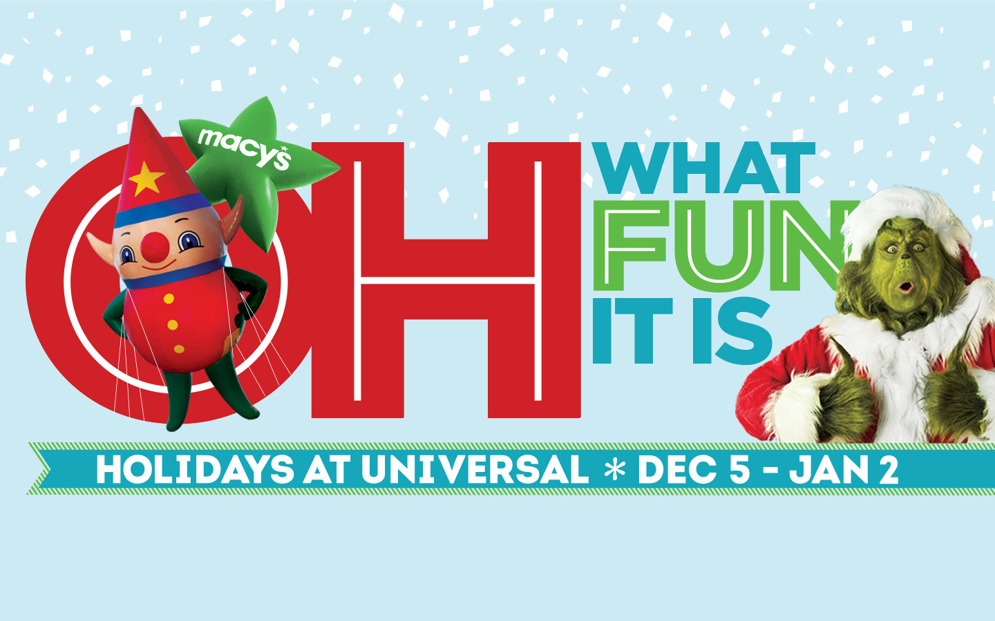 Spend your Holiday's at Universal Orlando Resort